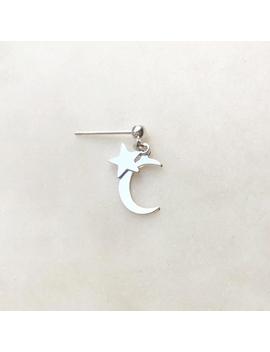 Earpin Moon Star Silver by By Nouck