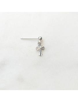 Earpin Mini Cross Silver by By Nouck