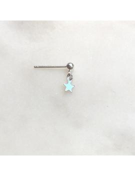 Earpin Silver Star by By Nouck