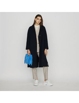 Double Face Wool Coat With Belt by Maje