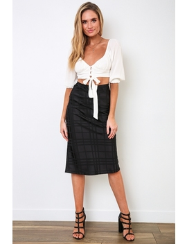 Aleesha Skirt   Black Check Sale by Stelly