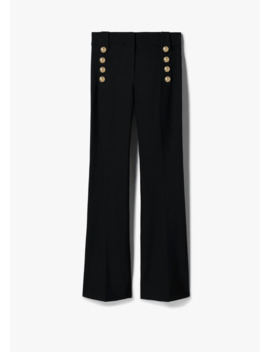 Robertson Flare Trouser With Sailor Buttons by Derek Lam