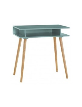 Sage Green Desk With Solid Wood Legs Sage Green Desk With Solid Wood Legs by Habitat