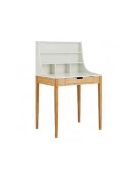 Bamboo And White Lacquer Compact Desk Bamboo And White Lacquer Compact Desk by Habitat
