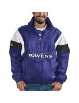 Baltimore Ravens Starter Nfl 100 Thursday Night Lights Quarter Zip Breakaway Jacket   Purple/Black by Starter