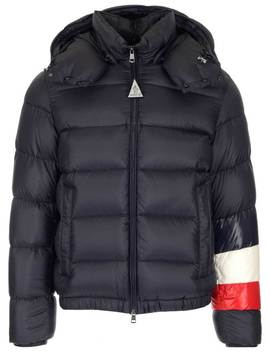 Moncler Willm Striped Detail Padded Hooded Jacket by Moncler Moncler