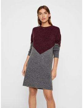 Colour Block Knitted Dress by Vero Moda
