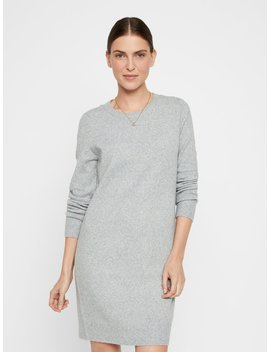 O Neck Knitted Dress by Vero Moda