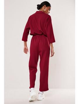 Pantalon Rouge Aspect Lin à Coordonner by Missguided