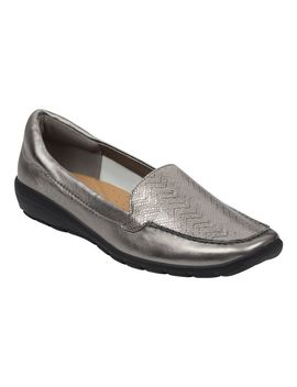 Abide Leather Casual Flats   Pewter Multi Leather by Easy Spirit