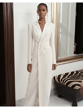 Kristian Silk Tuxedo Dress by Ralph Lauren