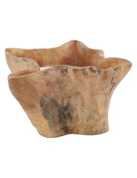 Dec Mode 15 X 17 In. Rustic Teak Wood Candle Pot by Hayneedle