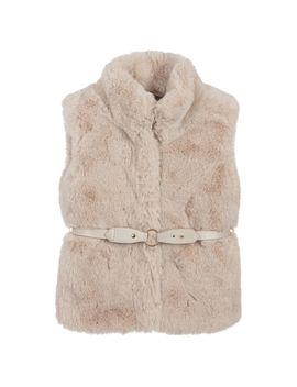 Girls Beige Faux Fur Gilet by Mayoral