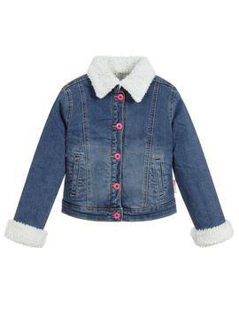 Girls Blue Denim Jacket by Billieblush