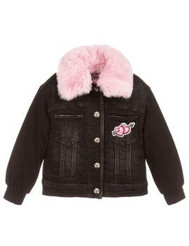 Black Pink Panther Jacket by Monnalisa