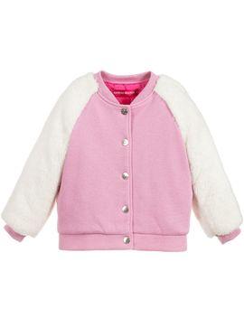 Pink Jersey & Faux Fur Jacket by Agatha Ruiz De La Prada