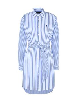 Striped Cotton Shirtdress by Generic