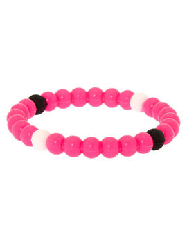 neon-fortune-stretch-bracelet---pink by claires