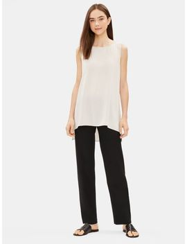 System Washable Stretch Crepe Straight Pant by Eileen Fisher