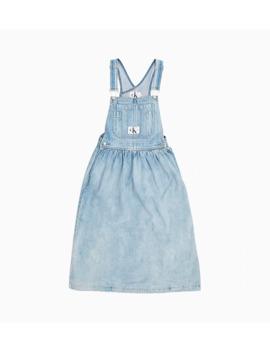 Denim Dungaree Dress by Calvin Klein