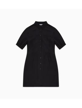 Crepe Short Sleeve Shirt Dress by Calvin Klein