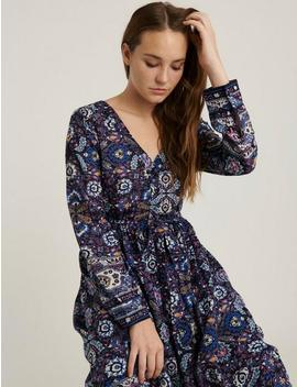 Florence Border Print Dress by Lucky Brand