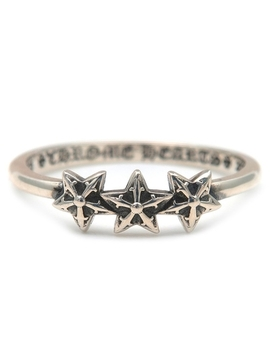 Chrome Hearts Bubble Gum Ring 3 Star Us6 Hk13 Eu52 by Chrome Hearts