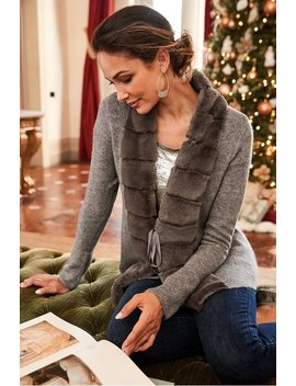 Cheri Cardi Faux Fur Cardigan by Soft Surroundings
