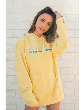 Sydney Serena: Yellow Dream Chaser Hoodie by Fanjoy