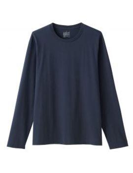 Men Organic Cotton Crew Neck Long Sleeve T Shirt by Muji