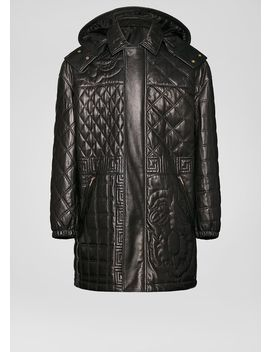 Quilted Nappa Leather Parka by Versace