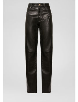 Nappa Leather Pants by Versace