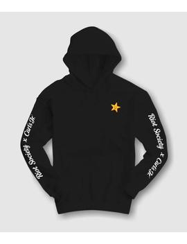 Home Mens Hoodies Carl's Jr Star Embroidered Mens Hoodie Carl's Jr Star Embroidered Mens Hoodie by Riot Society