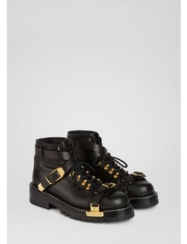 V Alpine Boots by Versace