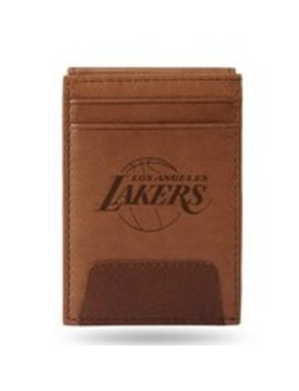 Los Angeles Lakers Sparo Leather Front Pocket Wallet by Sparo