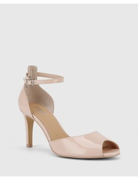 Inka Powder Pink Patent Leather Stiletto Heel Sandal by Wittner