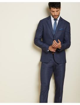 Athletic Fit Blue Prince Of Wales Suit Blazer by Rw & Co