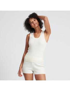 Cashmere Ribbed Tank Top White by Naadam