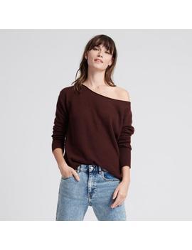 Cashmere Boatneck Sweater Plum by Naadam