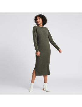 Wool Cashmere Sweater Dress Olive by Naadam