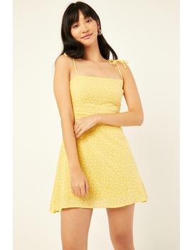 Golden Days Dress Yellow Print by Perfect Stranger