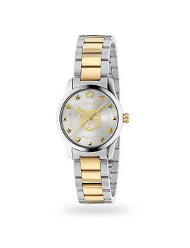 Gucci G Timeless Stainless Steel Ladies Watch Ya126596 by Goldsmiths