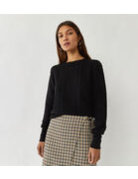 Embroidered Check Sweatshirt by Warehouse