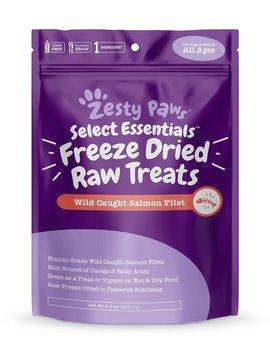 Zesty Paws Raw Freeze Dried Salmon Skin & Coat Support Dog & Cat Treats by Zesty Paws