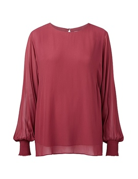 Sheer Sleeve Blouse by Witchery