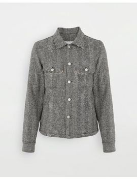Décortiqué Herringbone Jacket by Maison Margiela