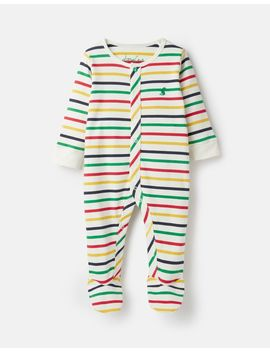 Ziggy Printed Babygrow With Feet by Joules