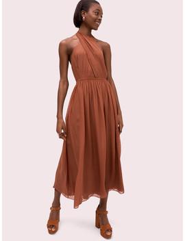 Silk Halter Midi Dress by Kate Spade