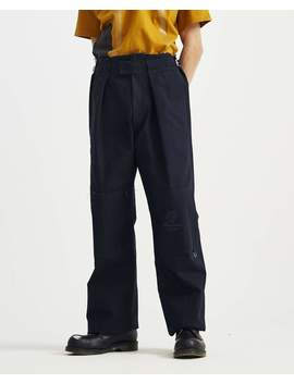 Wide Fit Pant With Knee Patches And Rings   Dark Navy by Raf Simons