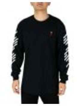 Riot Society Geo Rose Mens Embroidered Long Sleeve T Shirt by Riot Society